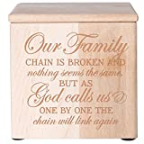 Cremation Urns for Human ashes - SMALL Funeral Urn Keepsake box for pets - Memorial Gift for home or Columbarium Our Family chain is broken Holds SMALL portion of ashes 4.5' (Maple Natural 4.5')
