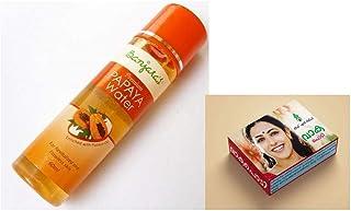 Banjara's Papaya Water, Orange, 60 ml; Leaf N Relief Ayurvedic Vaka Powder- Vaka Podi- 35gm