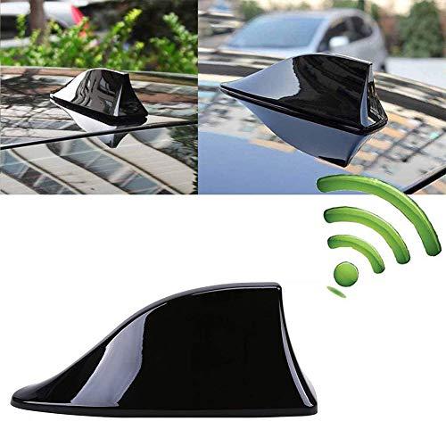 INTVN Aleta de coche - Antena Universal para Coche, Antena de Aleta de Tiburón, Señal de Radio Universal para Auto SUV Camión Van Roof Tail Antena Modificada, Negro