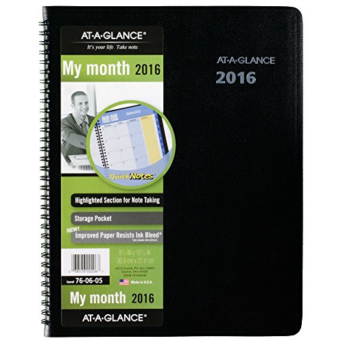 AT-A-GLANCE Monthly Planner 2016, Quick Notes, 12 Months, 8.25 x 10.88 Inch Page Size (760605)