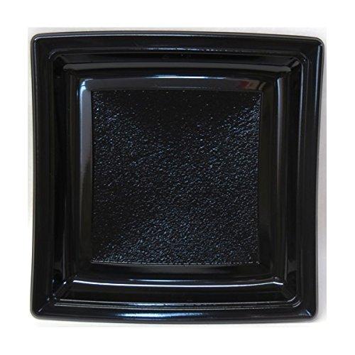 Promo-jet Générique - Assiette Plastique carrée 240mm Noir par 50