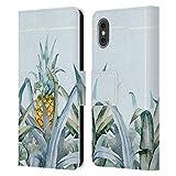 Head Case Designs Licenza Ufficiale Mark Ashkenazi Serie Tropicale Vita da Banana Cover in Pelle a Portafoglio Compatibile con Apple iPhone X/iPhone XS