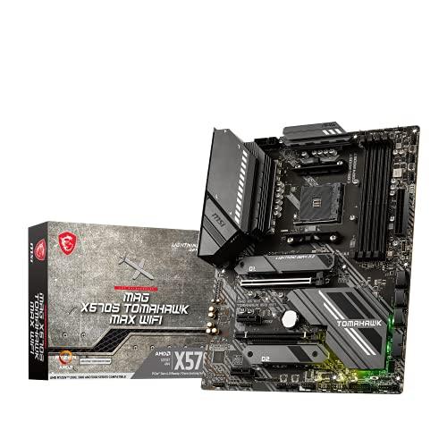 MSI MAG X570S TOMAHAWK MAX WIFI Scheda madre ATX Gaming - Supporta i processori AMD Ryzen serie 5000, AM4 - Mystic Light, 60A VRM, DDR4 Boost (5100MHz OC), 2 x PCIe 4.0 x16, 2 x M.2 Gen4 x4, Wi-Fi 6E