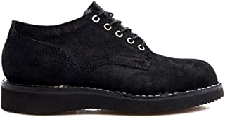 [HATHORN] ハソーン BOOTS MACHINE OXFORD SHOES 104NWC BLACK ROUGHOUT LEATHER vibram sole SUEDE [並行輸入品]