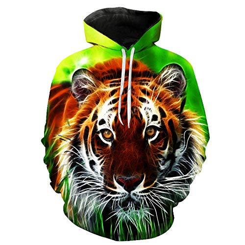 3D Hoodie Männer/Frauen Hoodies Hoodies Cap Windbreaker Jacke Sweatshirts Mode Tiger Lion Animal Printing Kleidung-4XL