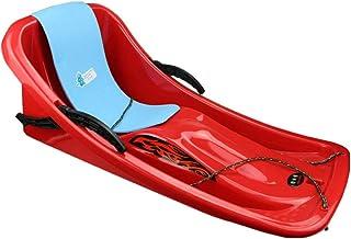 Winter Snow Sled, Snow Sled Boat Sledge Glider with Brakes Downhill Sprinter Winter Toboggan