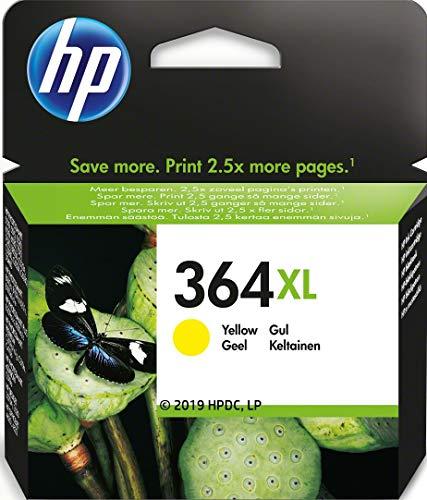 HP 364XL CB325EE Amarillo, Cartucho de Alta Capacidad Original, de 750 páginas, para impresoras HP Photosmart serie C5300, C6300, B210, B110 y Deskjet serie 3520