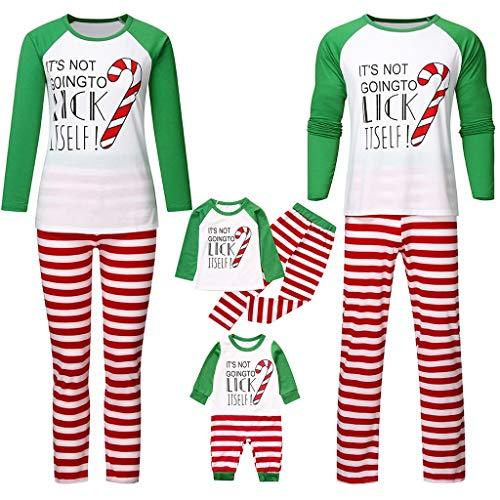 Holeider Weihnachts Schlafanzug Familie Weihnachtspyjama Pyjama Set Damen Kinder Herren Baby Weihnachten Schlafanzüge Mädchen Jungen Weihnachten Nachtwäsche Sleepwear Schlafshirt Schlafhose