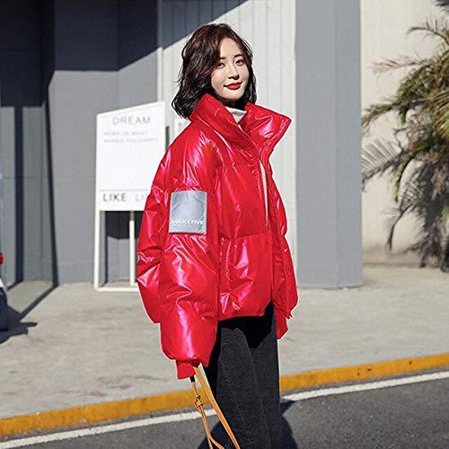 SWAQS Dames Jas Winter 2019 Oversized Jassen Vrouwelijke Plus Size Streetwear Parkas Dames Jassen Met Een Rits Bovenkleding XS Rood