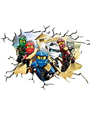 Ninjago V103 Wall Crack Wall Smash Wall Sticker Self Adhesive Poster Wall Art Size 1000mm breed x 600mm diep (large) by Chicbanners