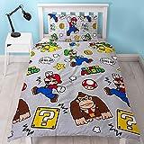 Produit officiel agréé Nintendo. 100% micro fibre de polyester. Dimensions de la parure de lit simple: 135 x 200cm, 1taies d'oreiller: 48 x 74cm. Dimensions de la parure de lit deux places: 200x 200cm, 2taies d'oreiller: 48 x 74cm.