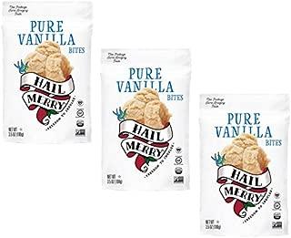 Hail Merry - Merry Bites Macaroons NEW Packaging - Pure Vanilla Flavor - 3.5 oz each, Paleo, Vegan (3 Pack)