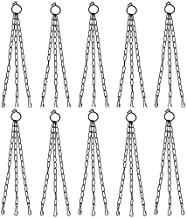 COIRGARDEN - Iron Chain 15 Inch Length - Metal Chain for Hanging Pots - (Pack of 10) - Hanging Basket Chain