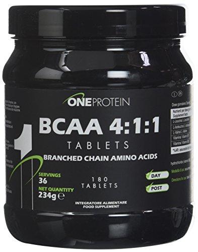 One Protein Integratore Alimentare di Aminoacidi Ramificati con Vitamine B1 e B6, 180 Compresse