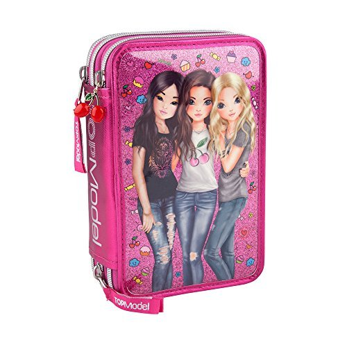 TopModel Estuche triple amigos – rosa por parte superior modelo: Amazon.es: Hogar