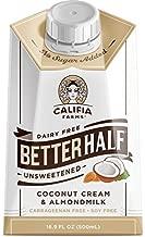 Califia Farms Unsweetened Better Half Coffee Creamer, 16.9 Fl Oz (Pack of 1) | Coconut Cream and Almondmilk | Half & Half | Dairy Free | Whole30 | Keto | Vegan | Plant Based | Nut Milk | Non-GMO