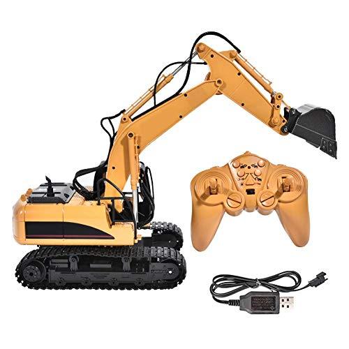 Camión excavador eléctrico de juguete con control remoto, excavadora de juguete simulada,...