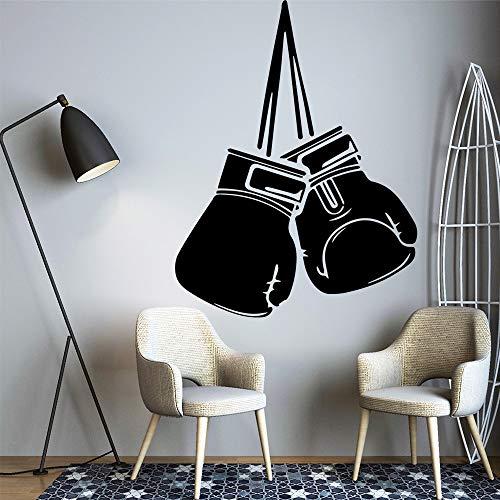 SLQUIET Kreative boxhandschuhe art fashion wandaufkleber wasserdicht wandaufkleber vinyl wandkunst aufkleber bett raumdekoration dekoration braun 30x39 cm