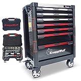KnappWulf Werkzeugwagen KW533 Werkzeugkoffer Werkstattwagen Werkzeugkasten gefüllt mit Werkzeug...