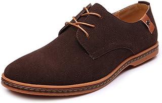 fd761cba HCP-ES Zapatos Holgazanes Casuales de los Hombres Cordones Casuales Oxfords  Microfibra Cuero Superior de