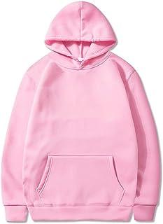 MU-PPX Sudaderas con Capucha Mujeres Hombres Sudadera con Capucha En Color Liso Pocket Streetwear