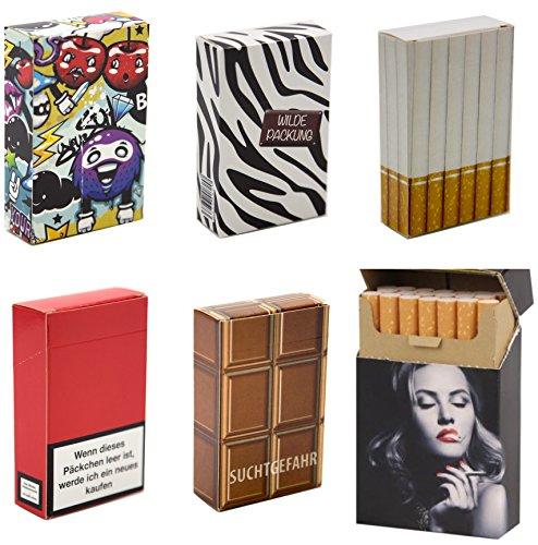 12 x Zigarettenetui für Gr. L Zigarettenschachtel Überzieher Hülle Etui Pappschuber - günstig und hübsch zugleich!