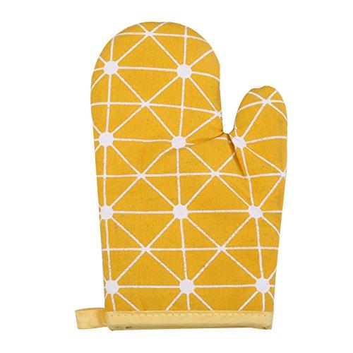 Hitzebeständig Baumwolle Reinigungstuch Handschuh–Kreuz Mikrowelle dicker Isolierung Backen Handschuhe Kitchen Tools 26*15cm Style 2