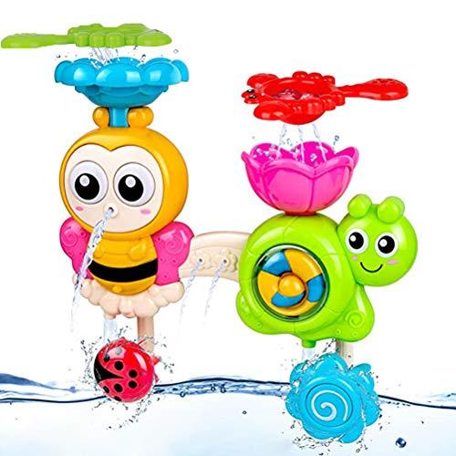 Amosch Badespielzeug für Babys, Kinder Wasser Dusche Badewannenspielzeug, Badewannenspielzeug Wasserfall Wasserstation mit Einer stapelbaren Tasse Springbrunnen Für Kinder Baby ab 18 Monate+