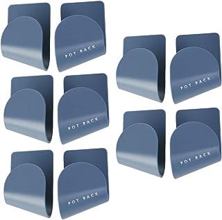 YARDWE 5 Pair Self Adhesive Pot Lid Holder Wall Mounted Pot Lid Racks Pan Pot Utensil Lid Rack Pot Cover Rack Kitchen Uten...
