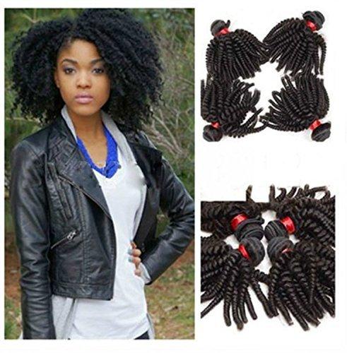 Extension de cheveux humains extensions capillaires tissage tissage Afro bouclés Brésilien Kinky Noir naturel couleur 30,5 cm 35,6 cm 40,6 cm 45,7 cm (4 pièces/lot), 50 g/pc)