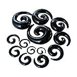 bismarckber 1Pc Acrílico Espiral Caracol Diseño Caracol Túneles Oído Dilatadores Expansores Hombres Mujeres Piercing Joyería