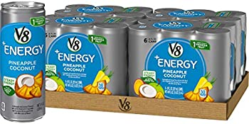 24-Count V8 +Energy Tea, Pineapple Coconut Healthy Energy Drink