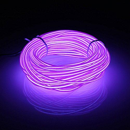Masunn 10 m EL geleidende flexibele zachte slang draad neongloeidraad autokabel strip licht kerstdecoratie DC 12 V