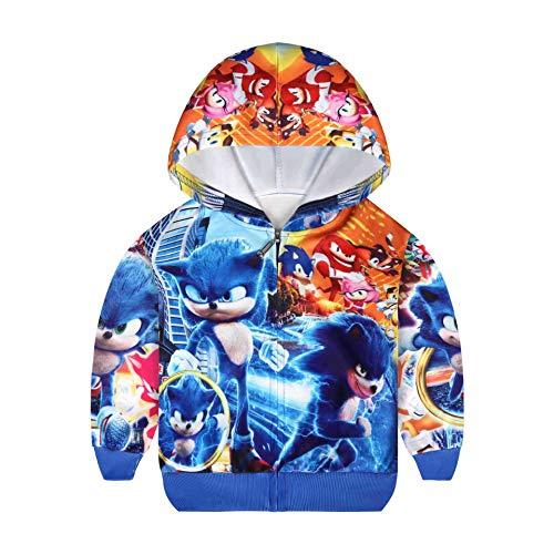 Jungen Hoodies Kinder Outfits Kostüm New Kids Sweatshirt Top Gr. 5-6 Jahre, blau