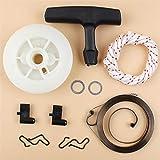 NAWQK Pull Spring Spring Poley Manija Grip Kit de Cuerda Ajuste para Stihl MS180 MS170 MS210 MS230 MS250 021 023 025 017 018 Motosierras