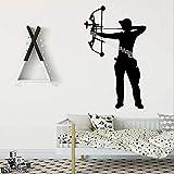 Arbalète Archer Autocollant Mural Tir À L'Arc Garçon Home Decor Pour Enfants...