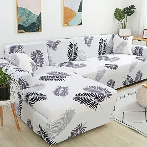 WXQY Funda de sofá en Forma de L para Sala de Estar, Funda de sofá, sofá seccional elástica, Funda de sofá antiincrustante con Todo Incluido, A16, 3 plazas
