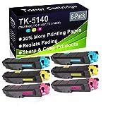 Cartuccia toner compatibile ECOSYS P6130cdn M6530cdn M6530cdn (alta capacità) per stampanti Kyocera TK-5140 TK5140 (TK-5140C TK-5140Y TK-5140M)