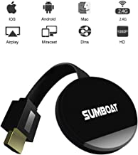 $30 » SUMBOAT Wireless Display Dongle WiFi Portable Display Receiver 1080P HDMI Miracast Dongle Compatible with iOS iPhone iPad/Mac/Android Smartphones/Windows/TV/Laptop
