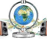 Lkk-kk Explorar el mundo Globo flotante de 6 pulgadas gravedad de suspensión Globo con luces LED magnética Suspensión campo del mapa del mundo del globo, Educativo escritorio del hogar de visualizació