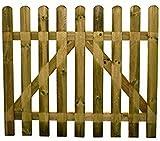 Recinzione in legno Dimensioni: 100 X 80 cm Pino impregnato in autoclave Senza ferramenta e senza pali quadri di sostegno