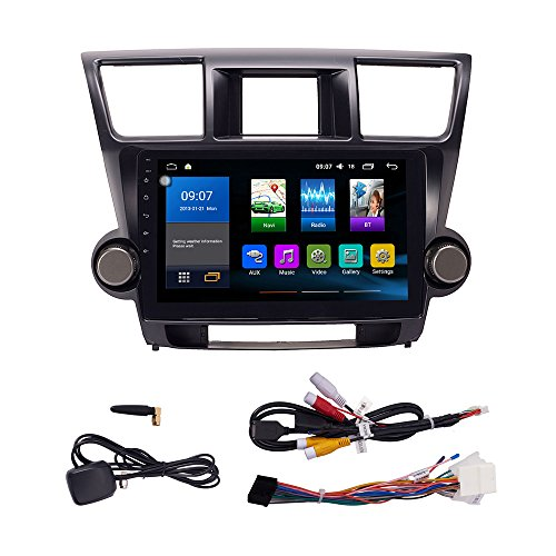 Android 10 Autoradio Car Navigation Stereo Multimedia Player GPS Radio 2.5D IPS Touch Screen for Toyota Highlander 2008-2013