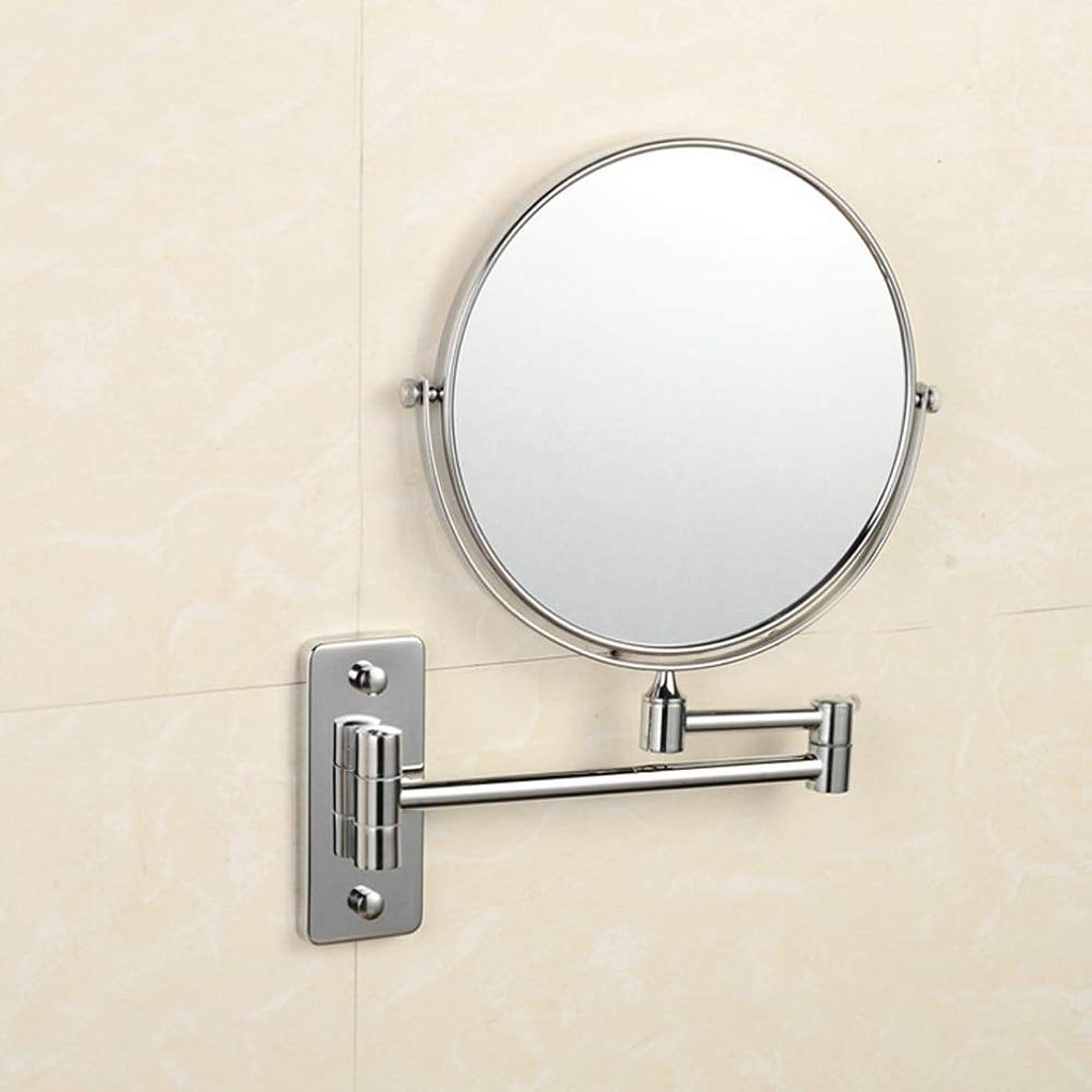 後ろに背景狂う流行の 銅浴室鏡折りたたみ伸縮性格人格美人表裏面360度回転壁掛け虫眼鏡ミラーシルバーホームビューティーミラー浴室