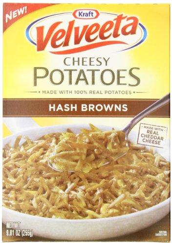Velveeta Kraft Cheesy Potatoes Box, Hash Browns, 9.01 Ounce (Pack of 6)
