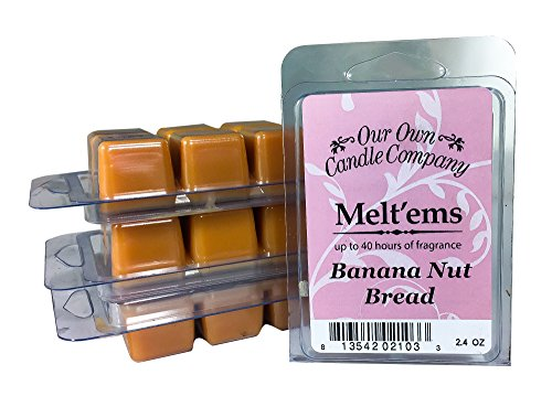 Our Own Candle Company Premium Wax Melt, Banana Nut, 6 Cubes, 2.4 oz (4 Pack)