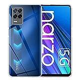 TUTUO Hülle Kompatibel mit Realme Narzo 30 5G/Realme 8 5G, [Crystal Clear, Vergilbungsfrei] Slim Weiche Silikon Handyhülle, Fallschutz, Stoßdämpfende Anti-Kratzt Soft TPU Schutzhülle - Transparent