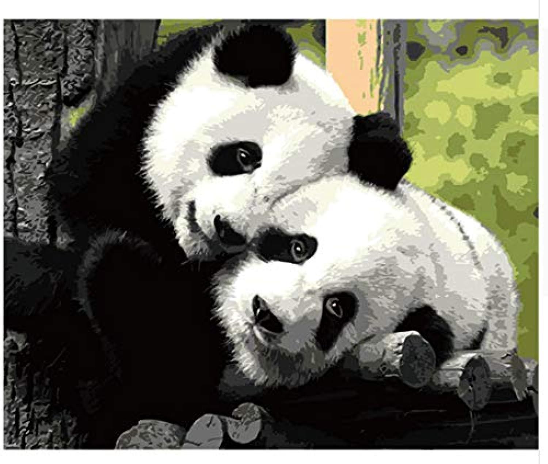 Agolong Tierischer niedlicher Panda, der weniger handgemalte Wand-Kunst-Haus-Dekorations-Gemälde für Wohnzimmer-Wand Malt Mit Rahmen 40x50cm B07MDPW412 | Garantiere Qualität und Quantität