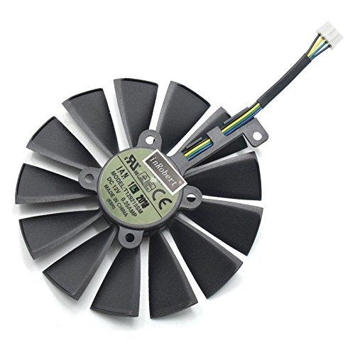 95mm T129215SM 12V 0.25AMP Ventilador de Refrigeración de Repuesto Graphics Card Fan para ASUS STRIX-RX470-O4G-GAMING RX580 GTX1050Ti