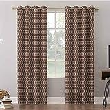 Aishare Store - Cortinas para tratamiento de ventanas (52 x 108 cm), diseño de rayas onduladas verticales enredadas en colores de contraste antiguos, cortinas y cortinas para sala de estar (2 paneles)