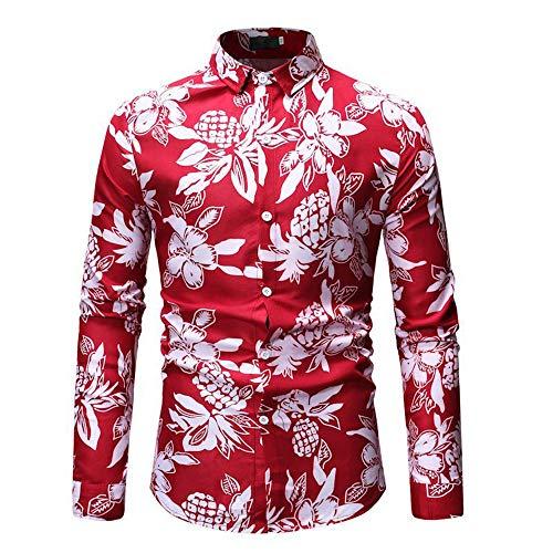 qulvyushangmaobu Hemd Herren Seidenhemd Slim Fit Langarmhemd Business Freizeit Party Freizeithemden für Herren Herren Stretch Langarm Slim Fit Freizeithemd
